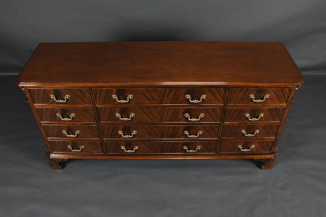 Picture of: Mahogany Long Chippendale Dresser