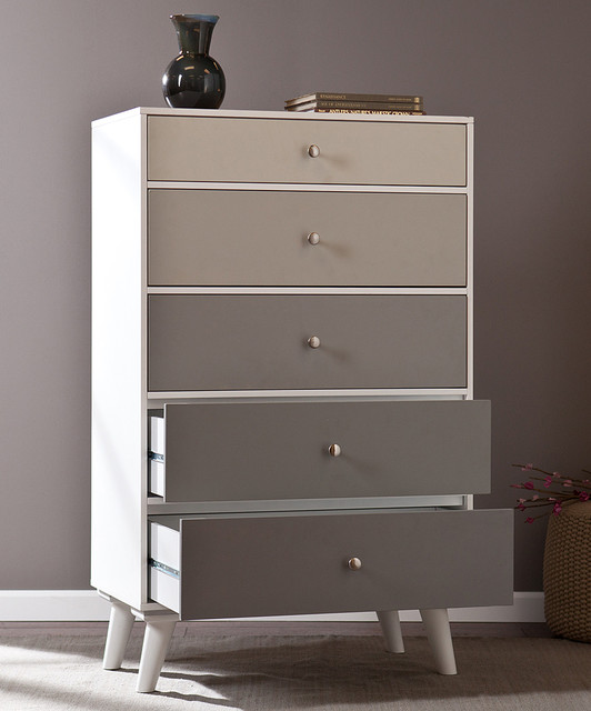 Image of: Maple Five Drawer Dresser