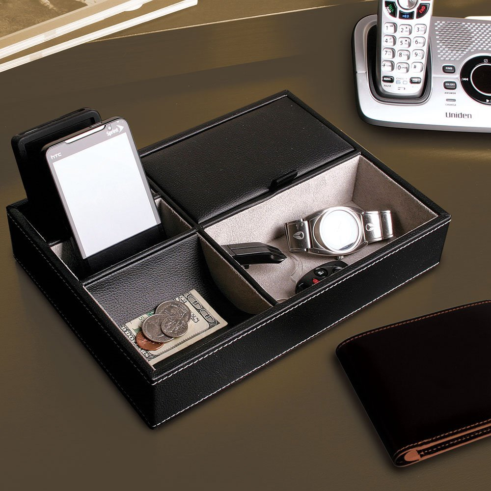 Picture of: Mens Leather Dresser Valet