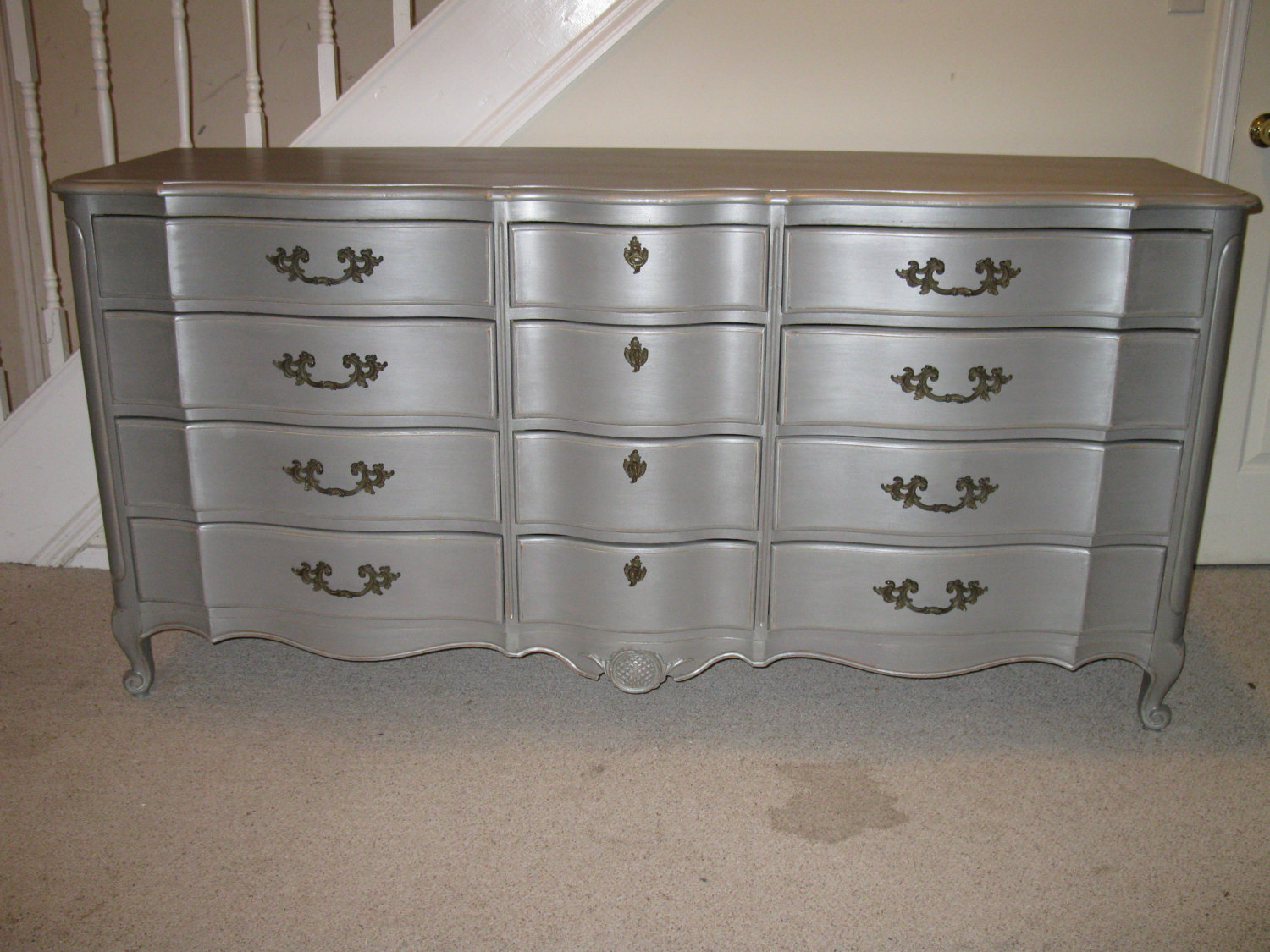 Image of: Metallic Silver Color Dresser