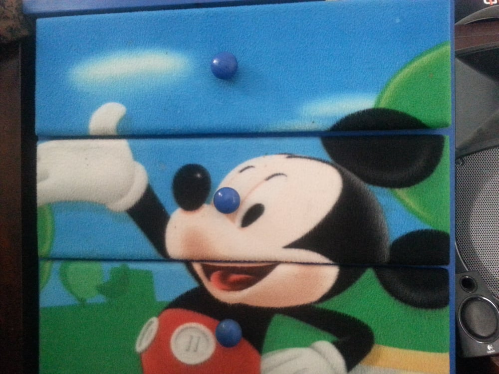 Picture of: Mickey Mouse Painted Furniture