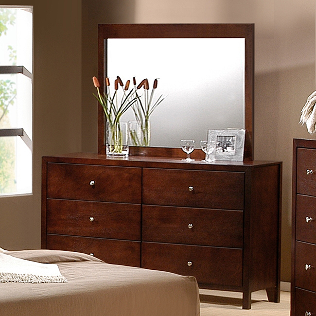 Picture of: Mirror Dresser Set Cherry