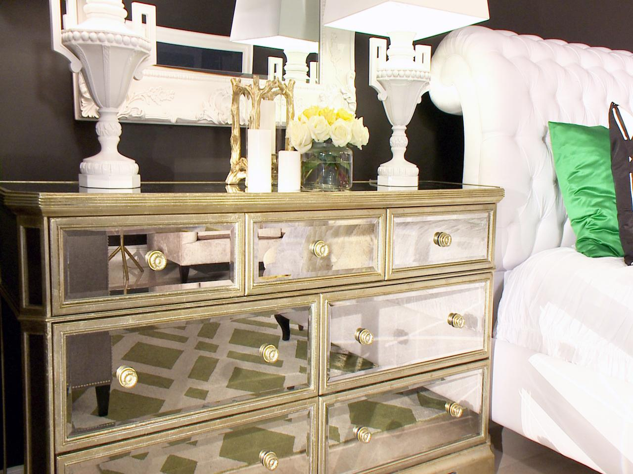 Picture of: Mirrored Accent Cabinet Bedroom