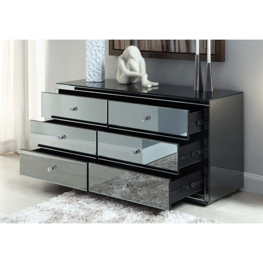 Picture of: Mirrored Dresser Ikea Hack