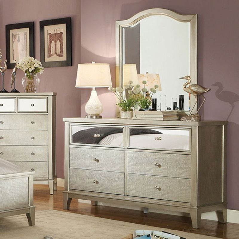 Picture of: Mirrored Dresser Table