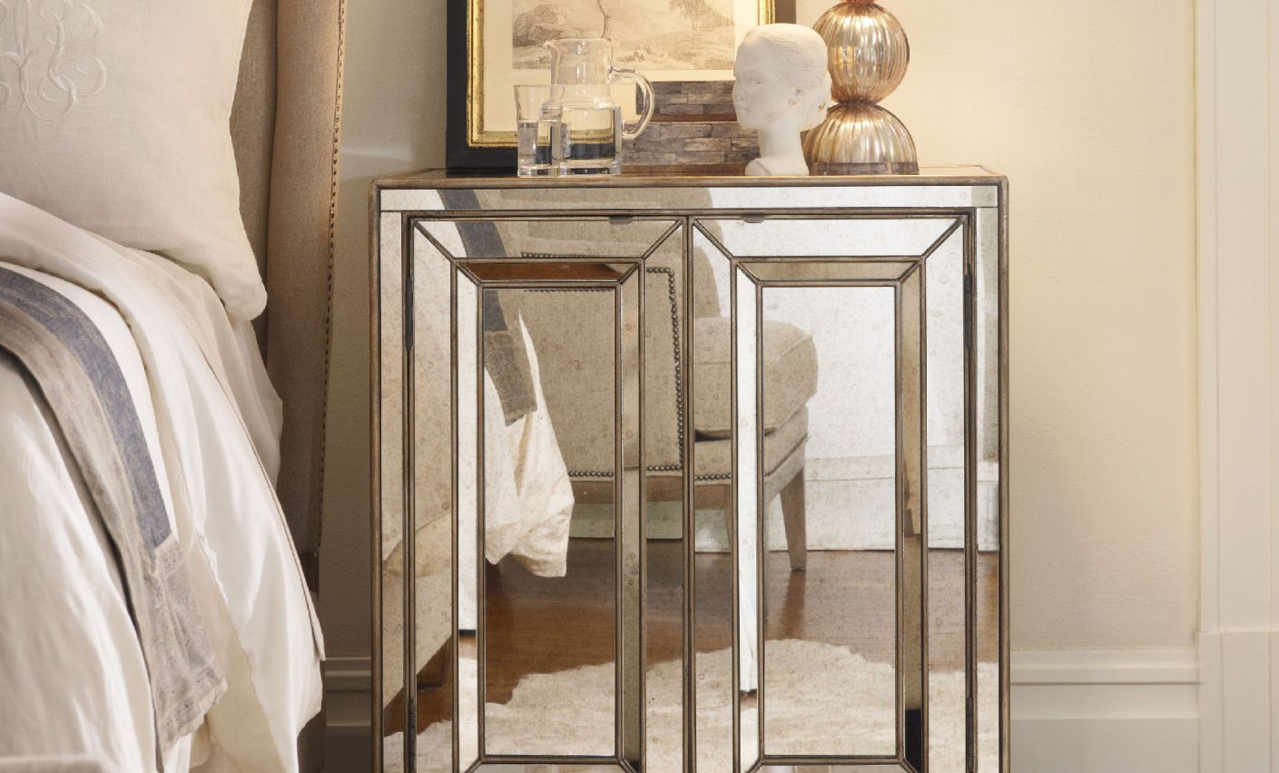 Picture of: Mirrored Media Chest