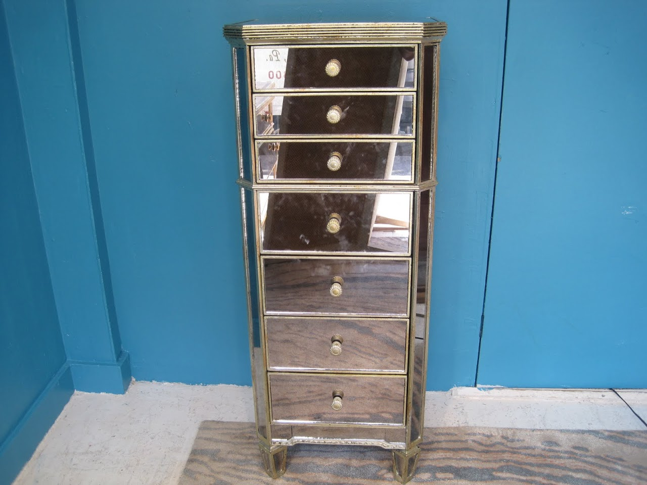Picture of: Mirrored Small Tall Dresser