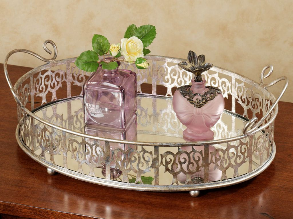 Picture of: Mirrored Vanity Tray