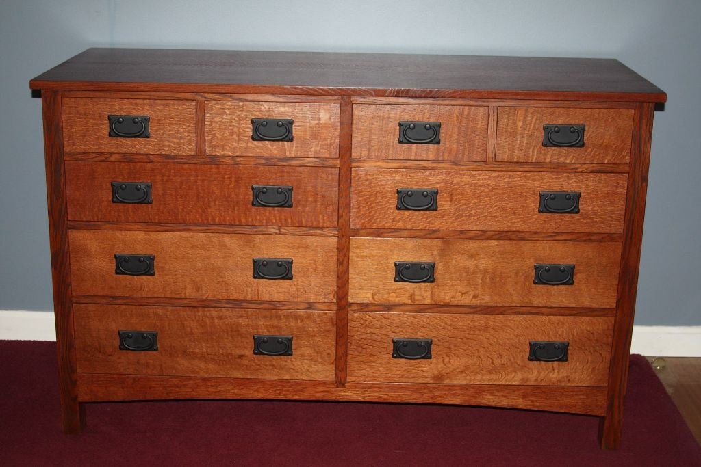 Picture of: Mission Style Dresser with Mirror