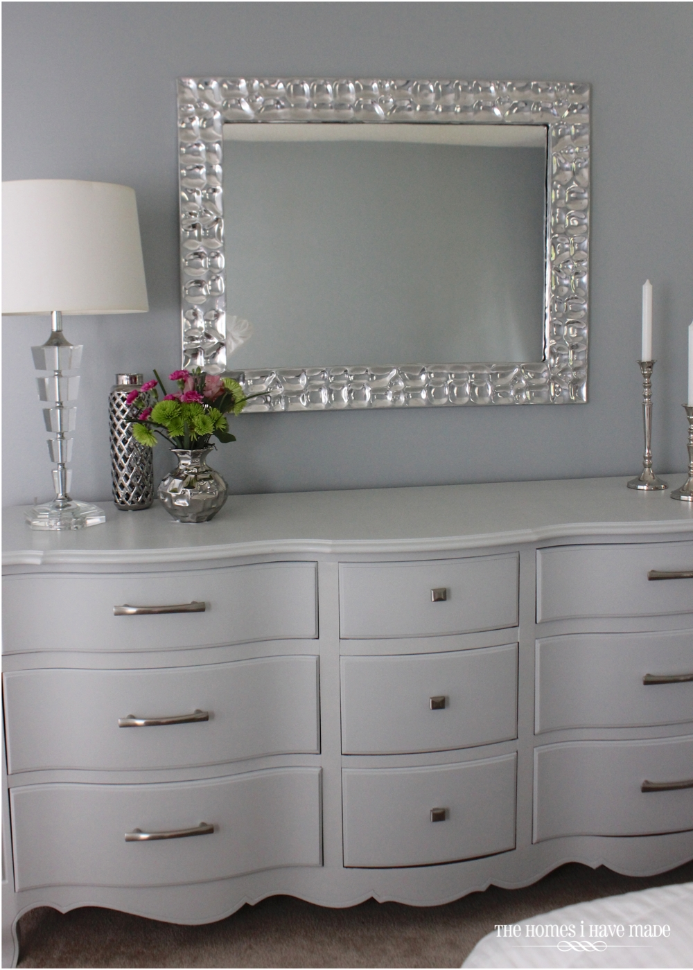 Image of: Modern Grey Dresser for Bedroom