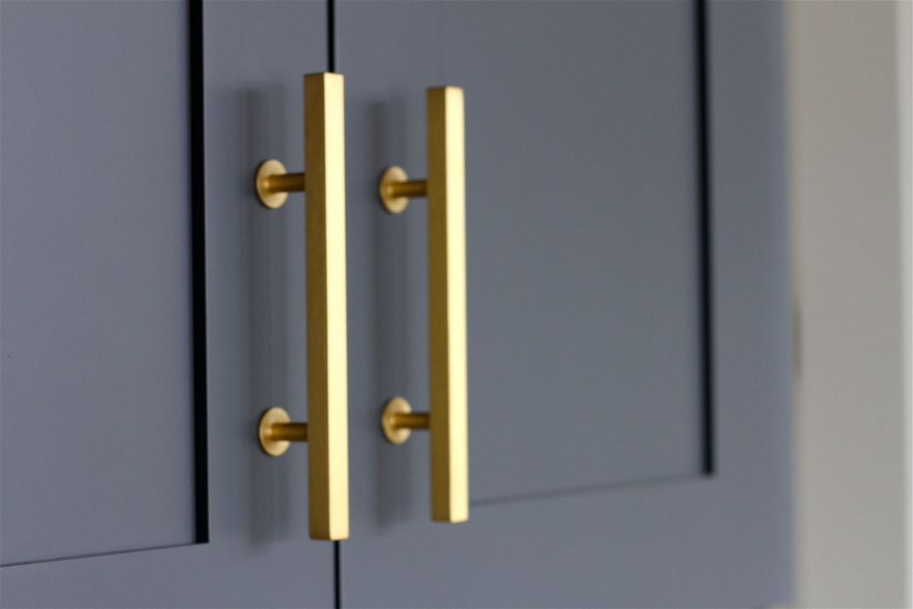 Picture of: Modern Style Drawer Gold Metal Pulls