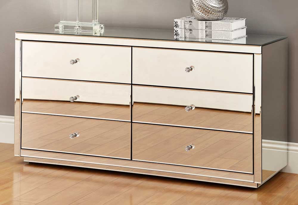 Image of: Nightstands Clearance Mirrored