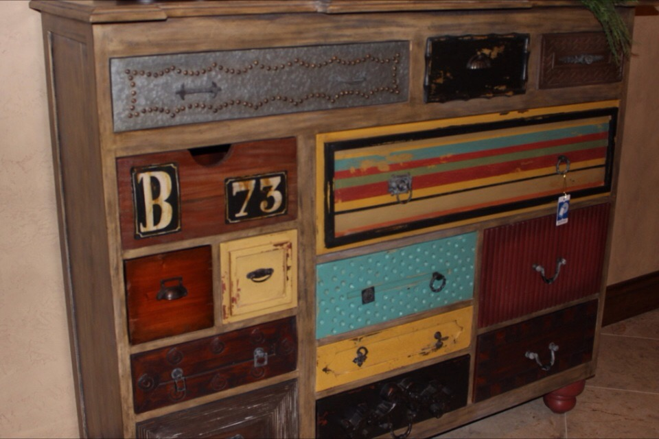Old Multi Colored Dressers