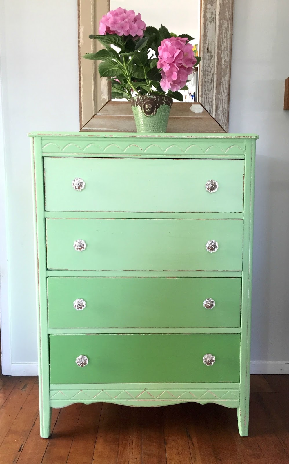 Picture of: Ombre Dresser Green