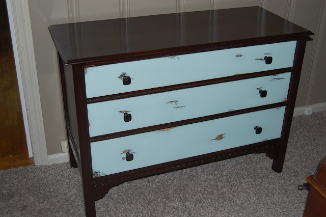 Picture of: Painted Corner Dresser