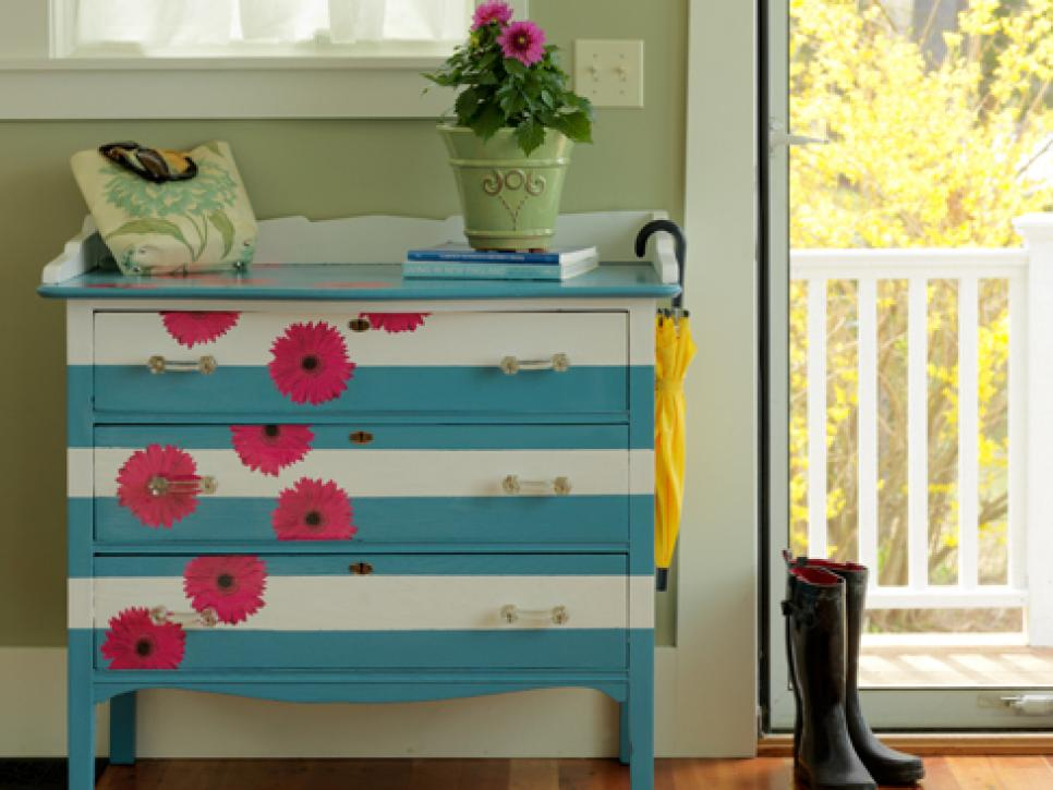 Painted Dresser Ideas Diy Flowers