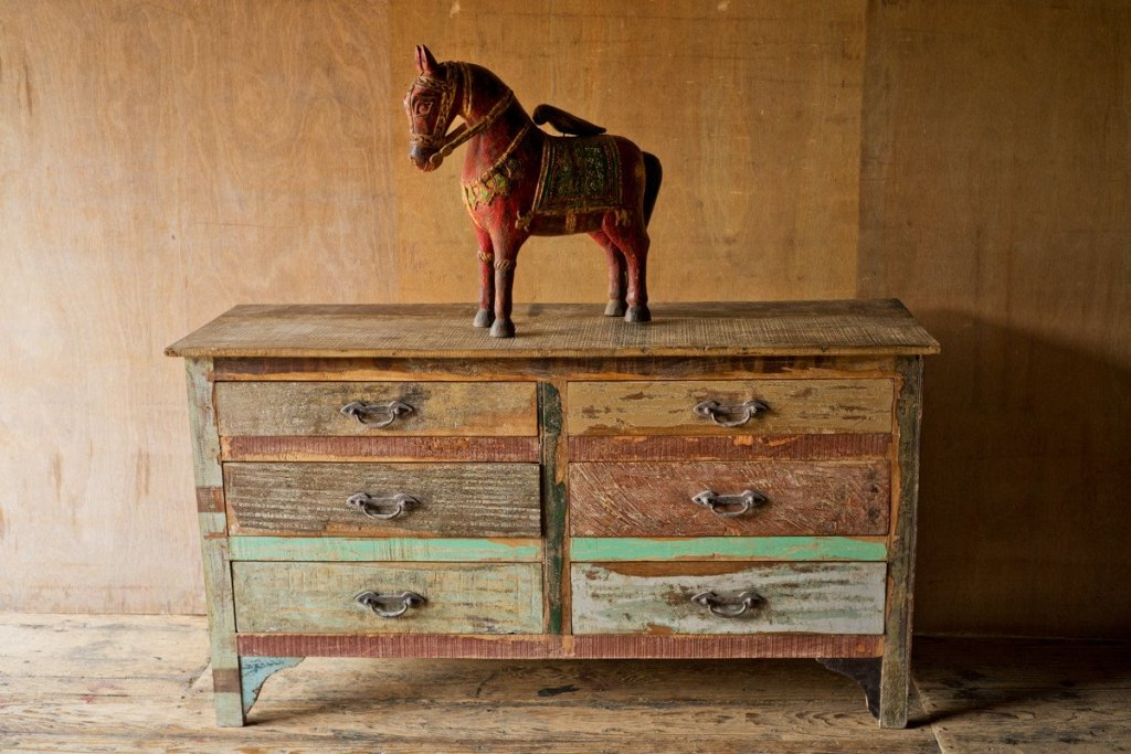 Image of: Patchwork Dresser New Leaf