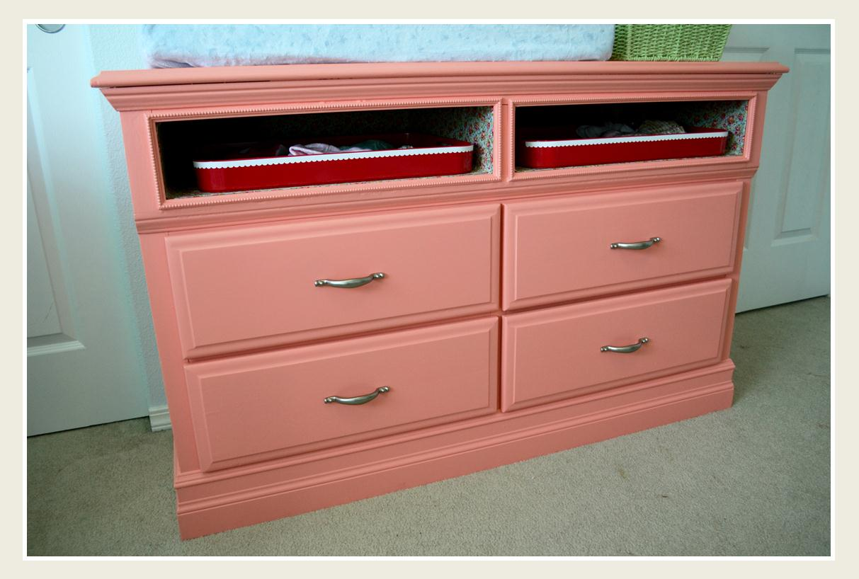 Picture of: Pink Shallow Depth Dresser