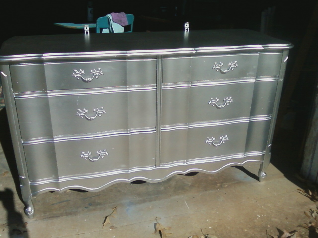 Image of: Popular Silver Tall Dresser