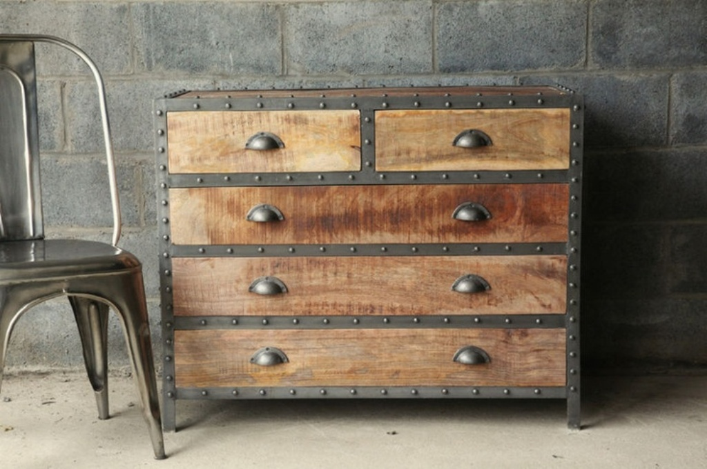 Picture of: Reclaimed Wood and Metal Locker