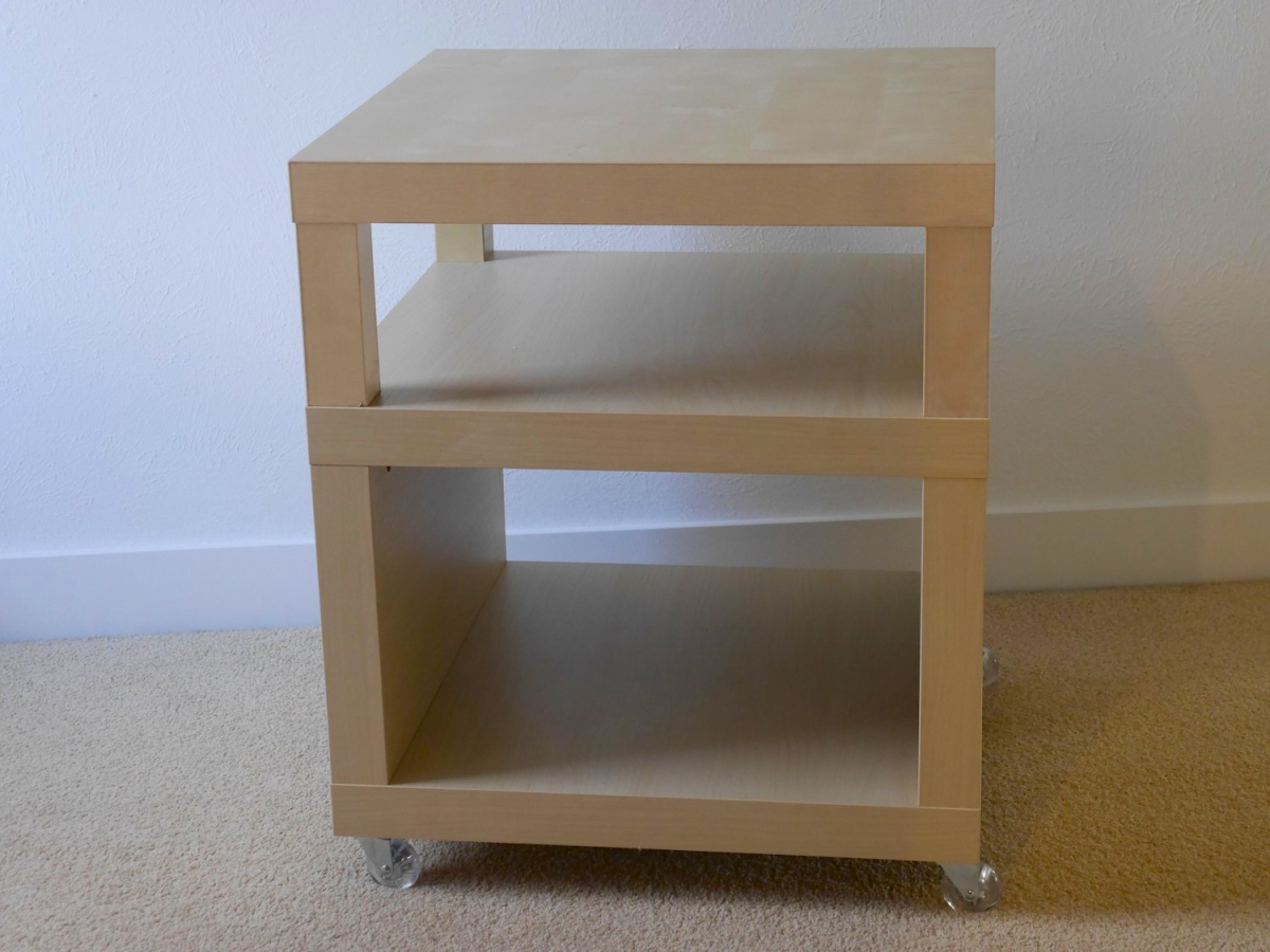 Rolling Bedside Table Small