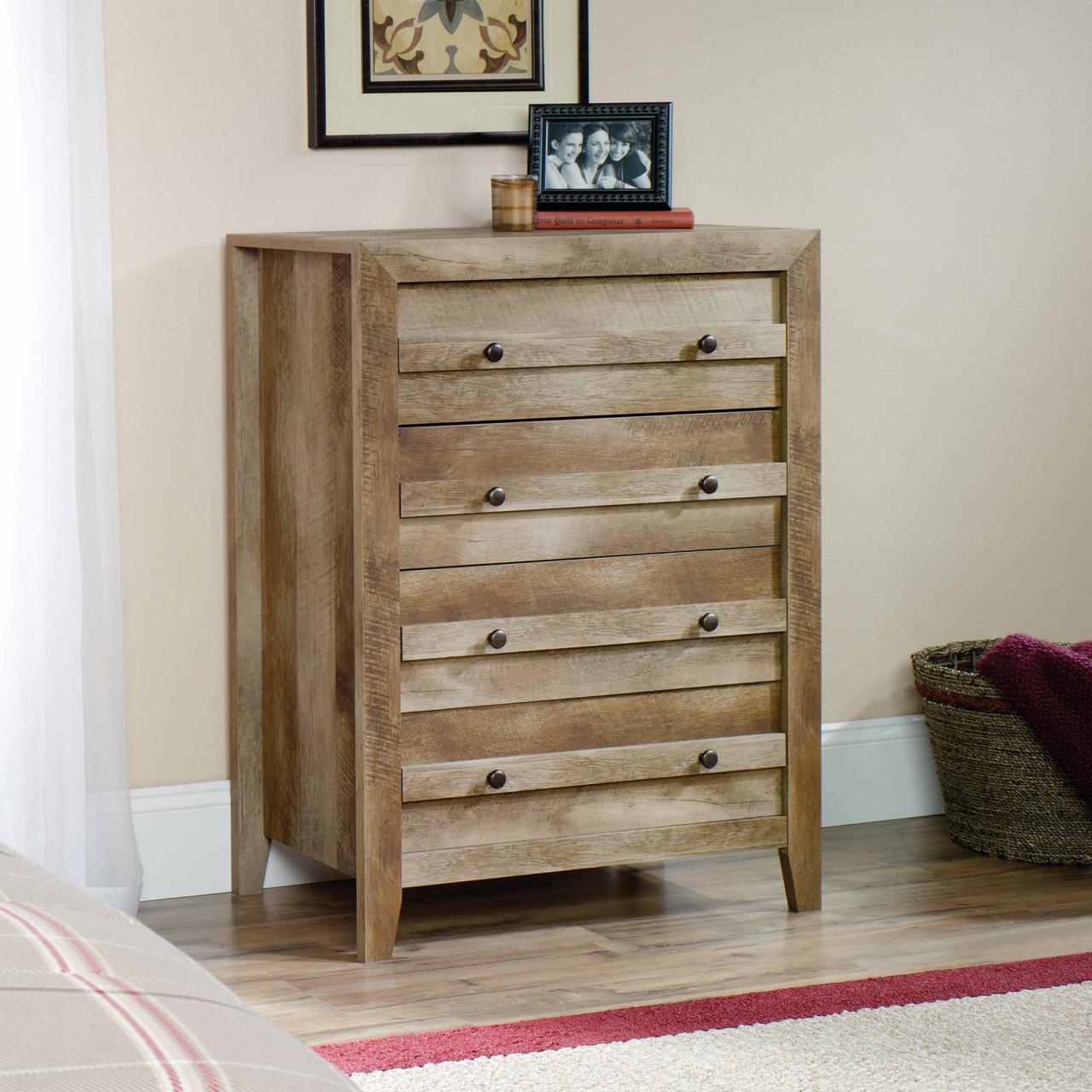 Image of: Rustic Dressers Tall Bedroom