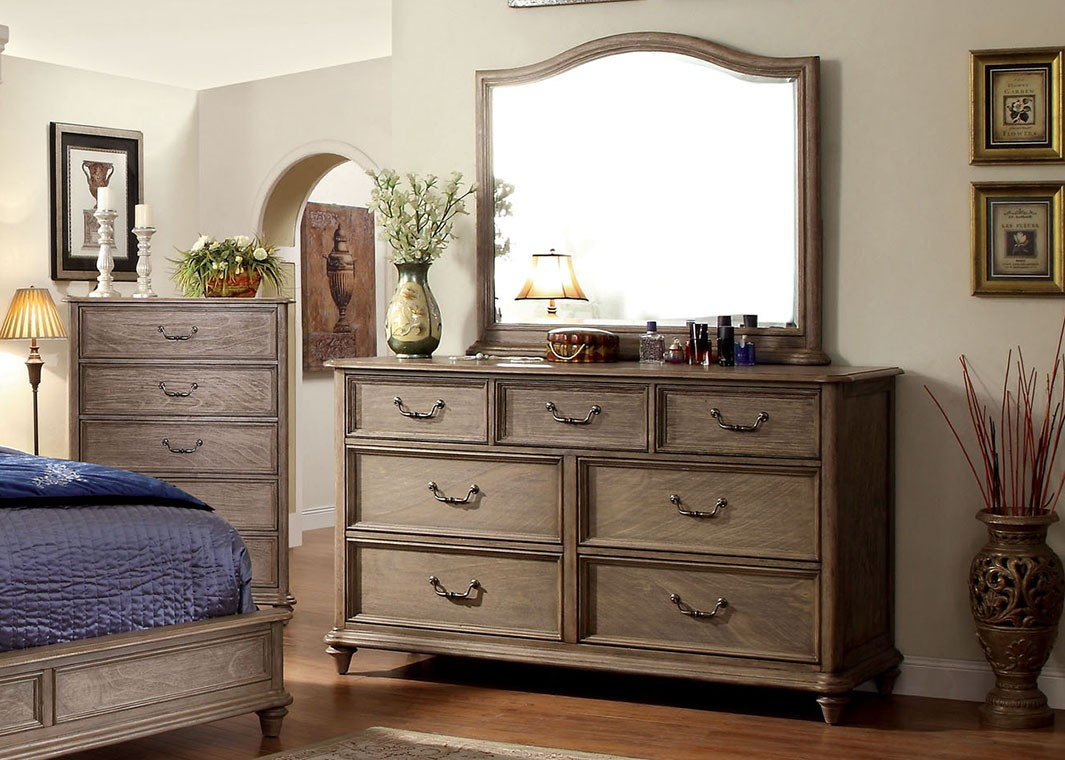 Rustic Dressers and Mirror Bedroom