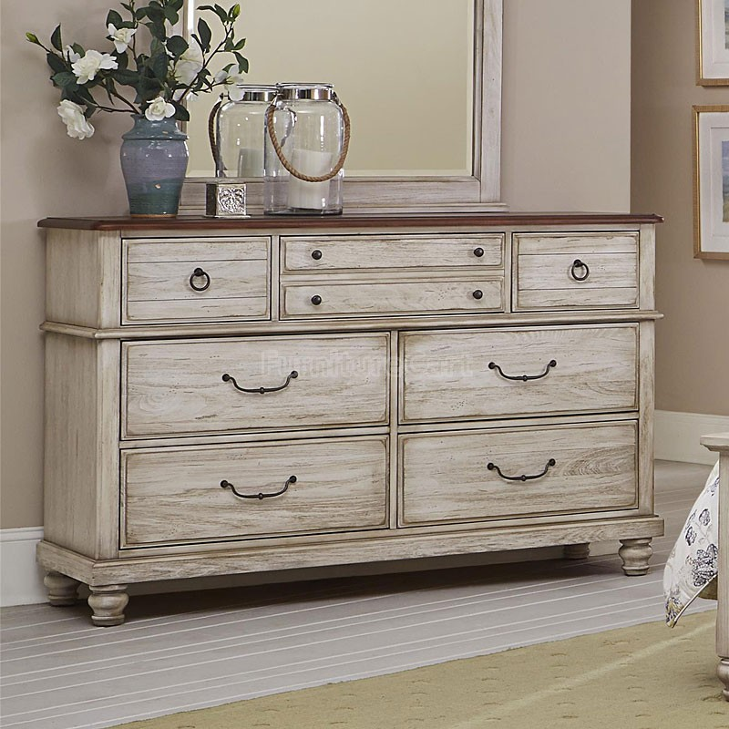 Image of: Rustic White Dressers Paint