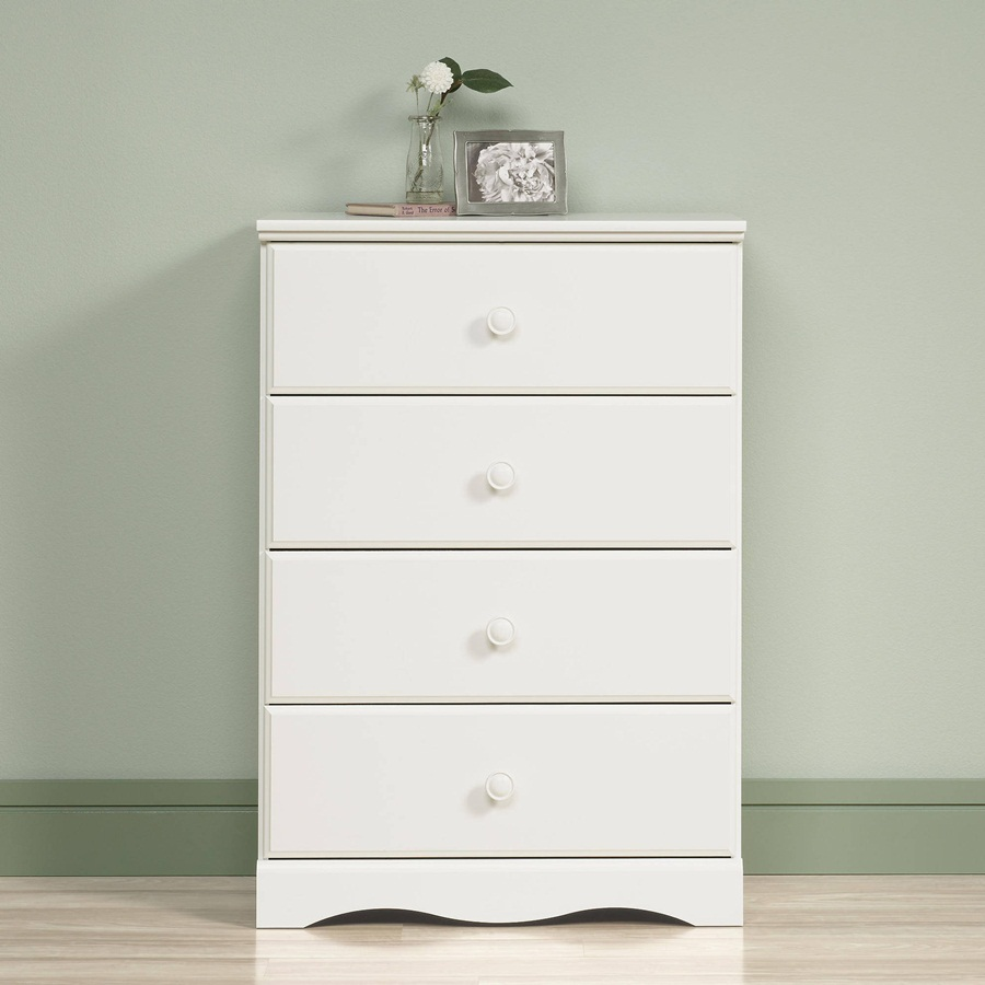 Picture of: Sauder 4 Drawer Chest White