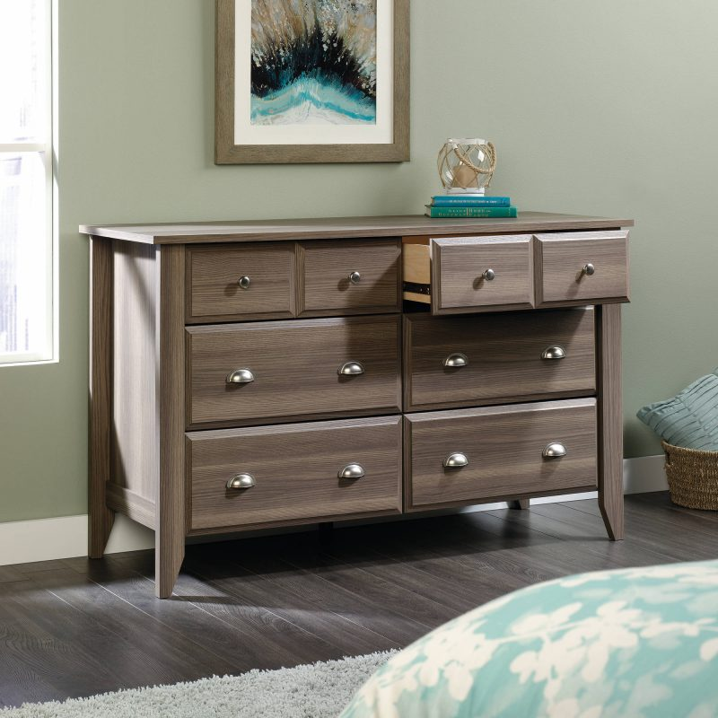 Picture of: Sauder Parklane 6 Drawer Dresser