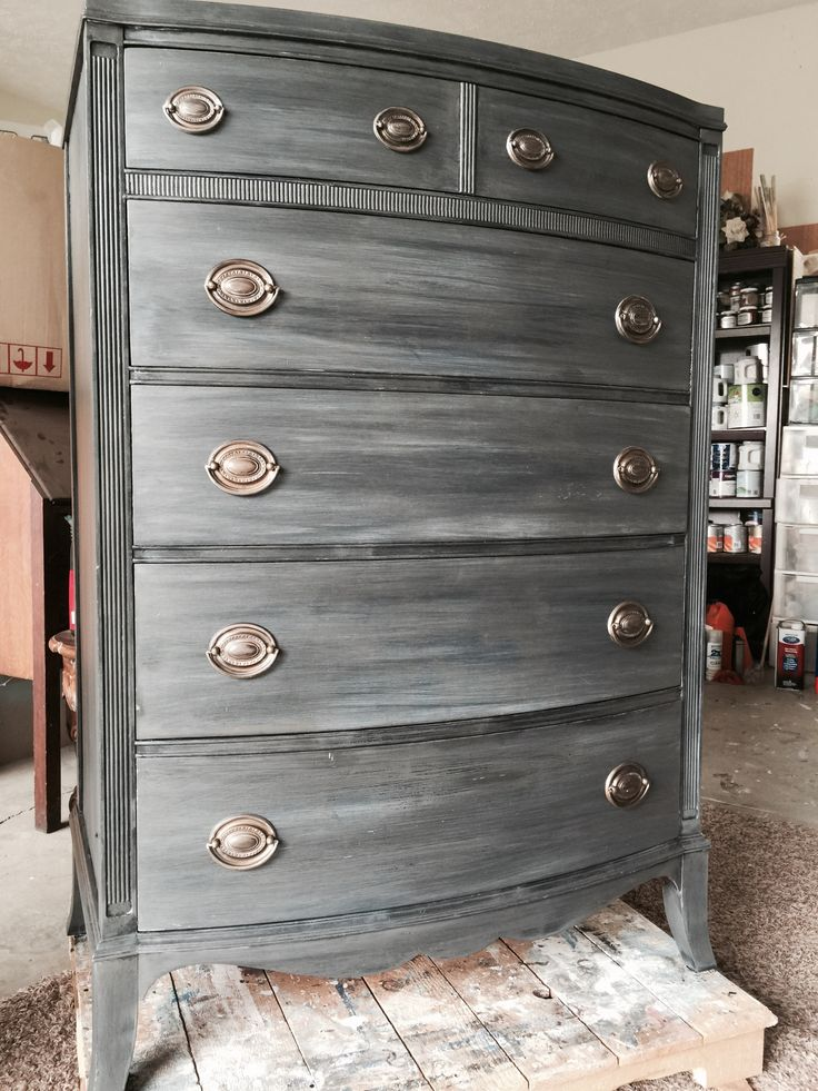 Picture of: Silver Refurbished Dresser