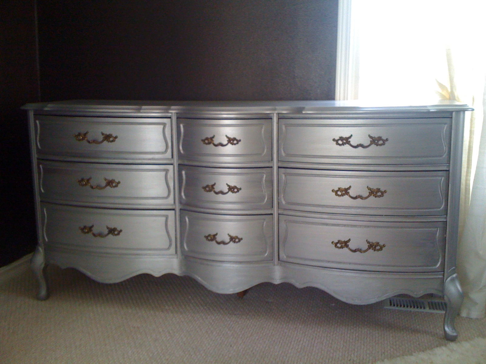 Silver Wooden Colors Dresser