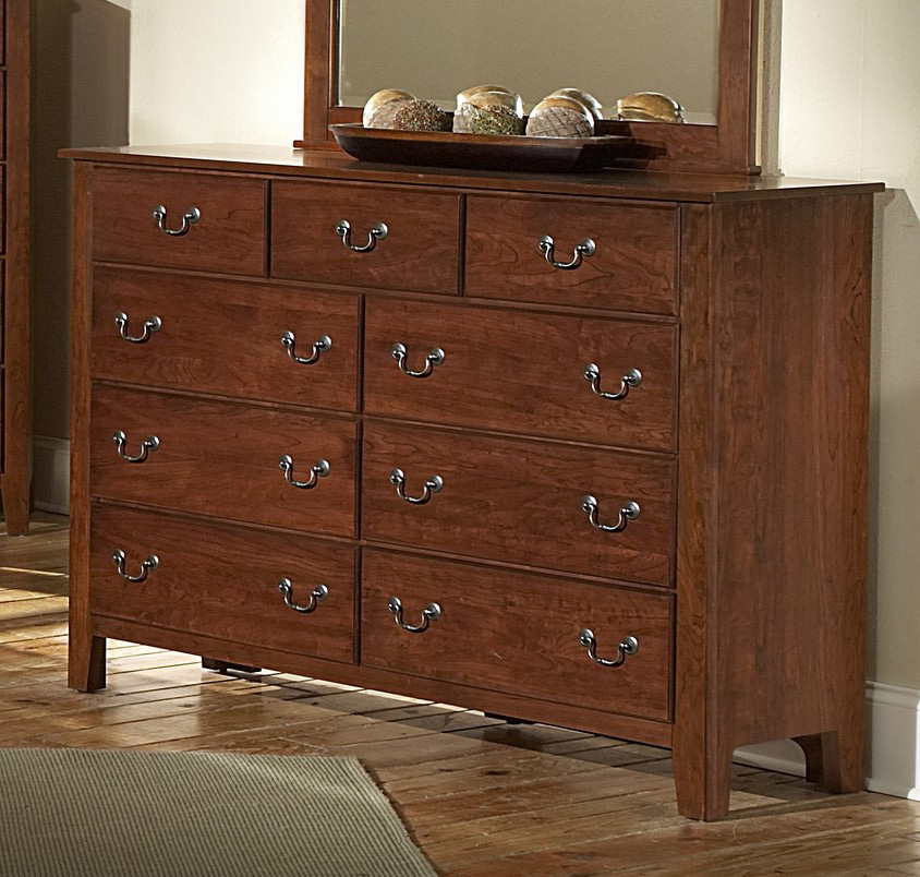 Solid Cherry Wood Chest Of Drawers