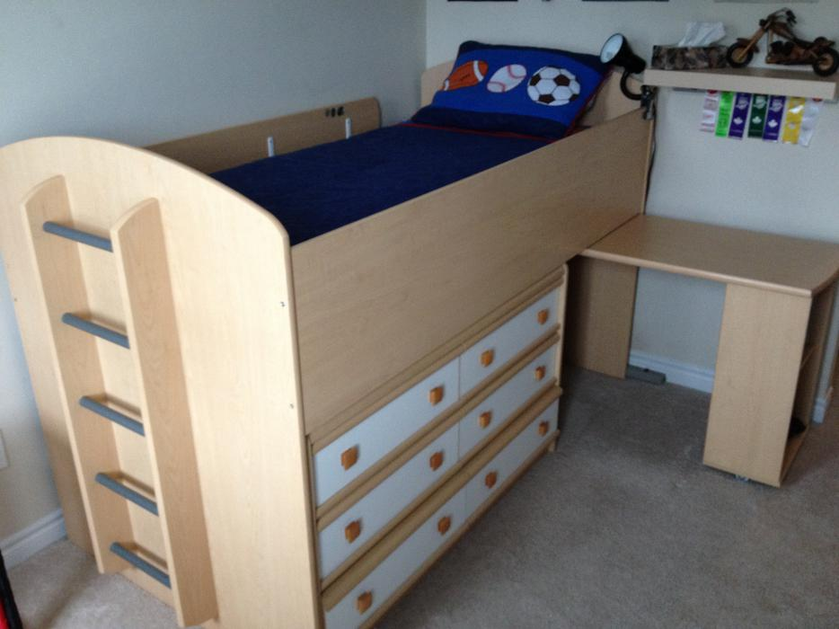 Picture of: Solid Dresser And Desk In One