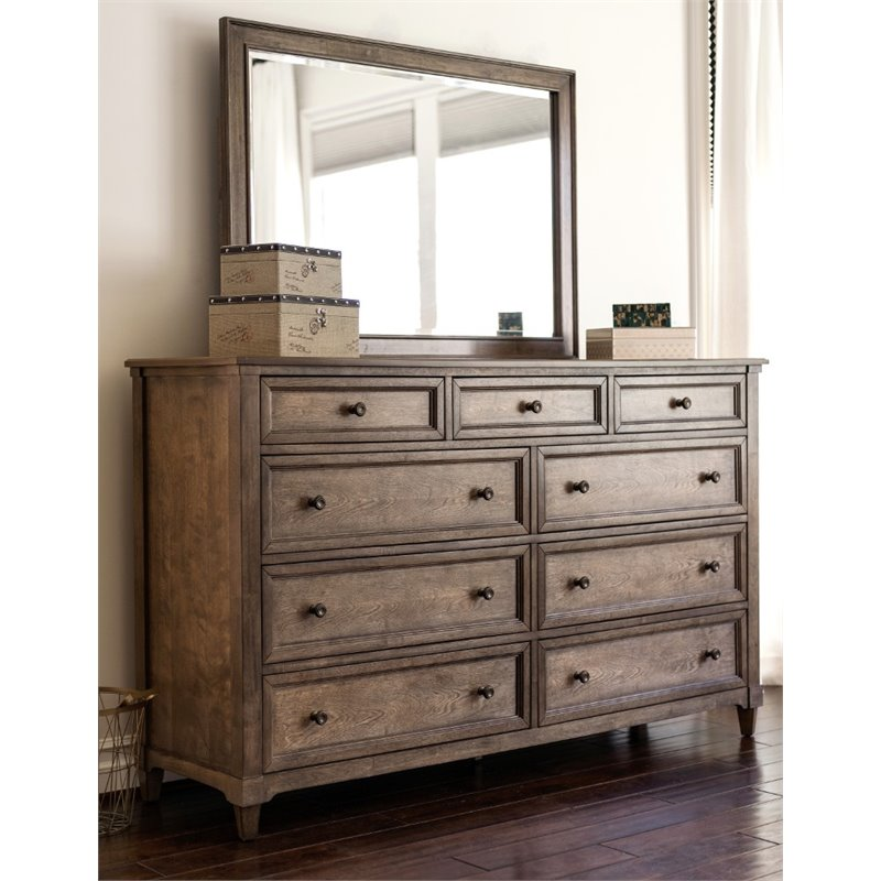 Picture of: South Shore Versa Drawer Chest Royal Cherry