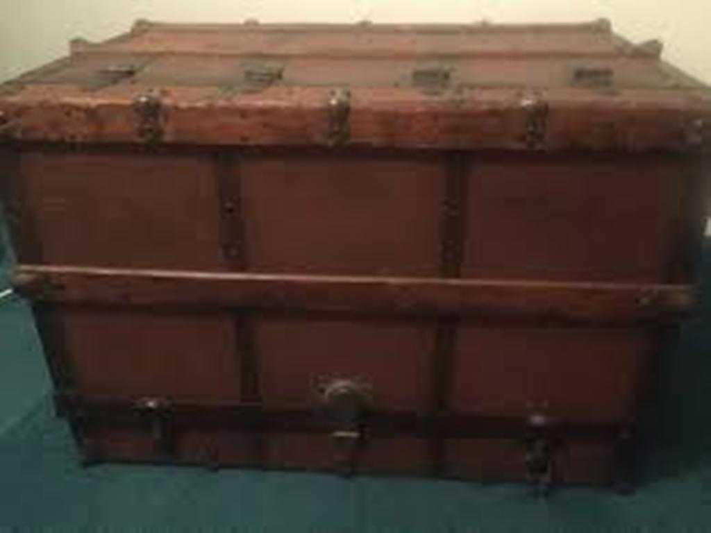 Picture of: Steamer Trunk Dresser Restoration Hardware