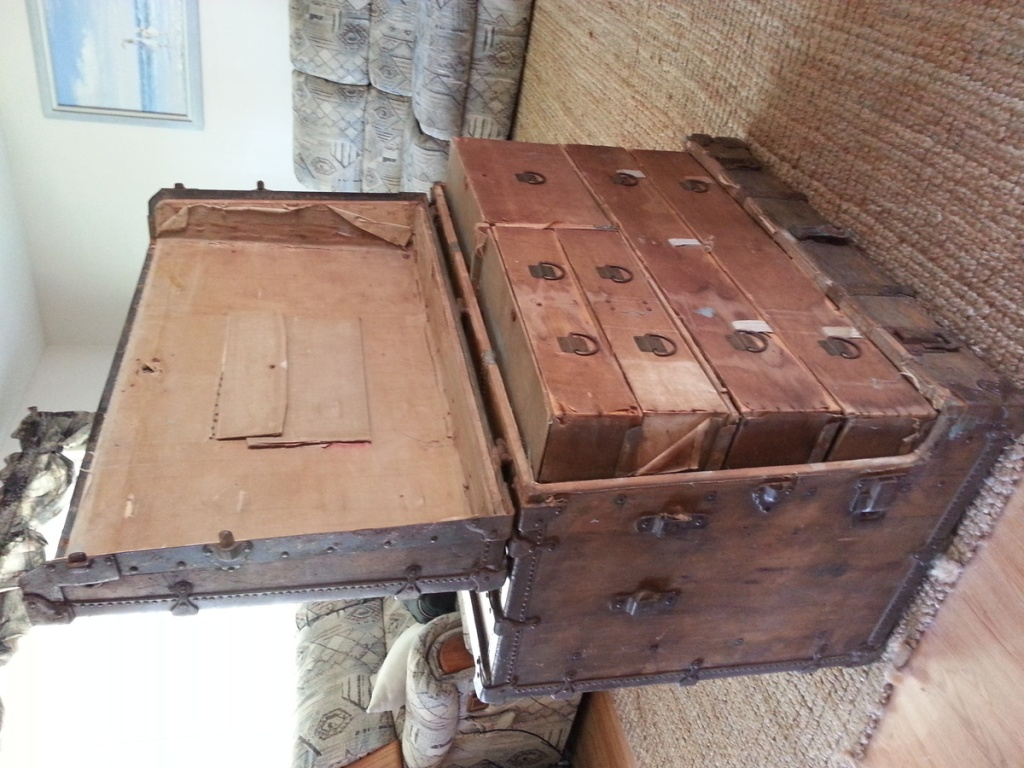 Picture of: Steamer Trunk Dresser Stainless