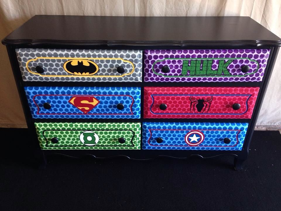 Picture of: Superhero Dresser Knobs