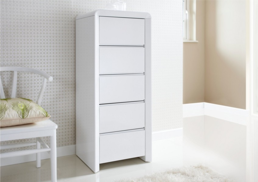Picture of: Tall Boy Dresser Black