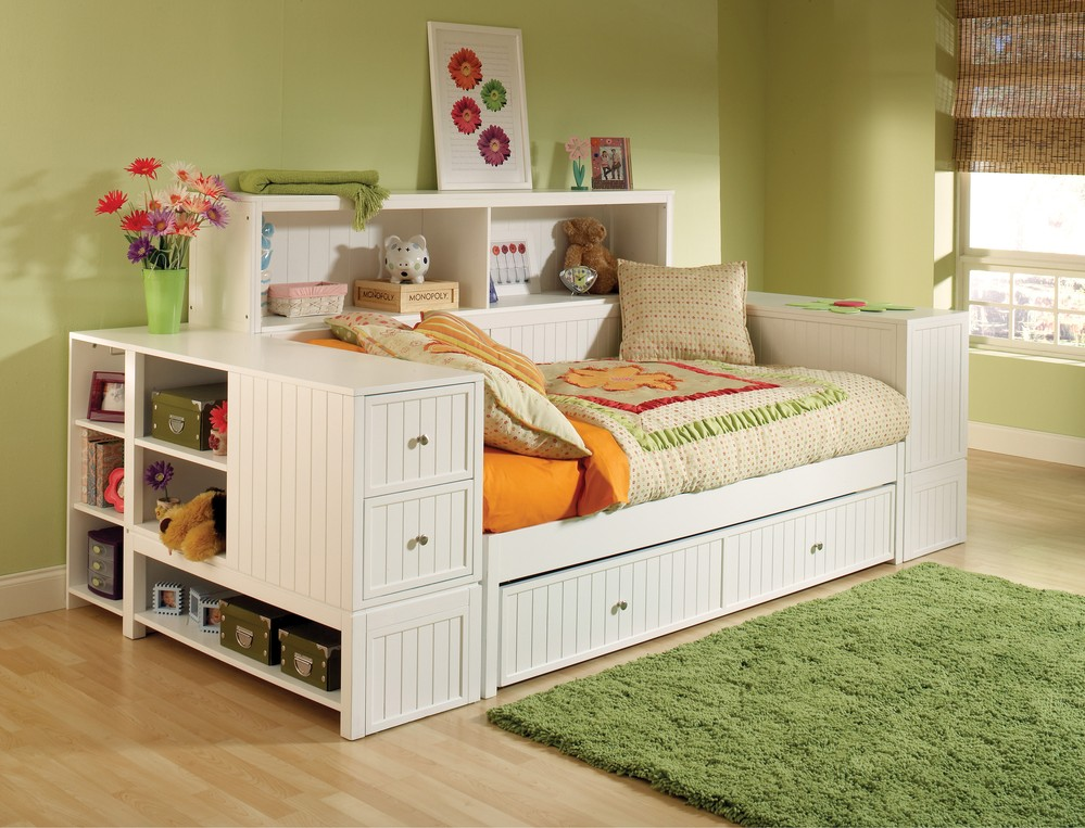 Image of: Twin Bed with Dresser Underneath