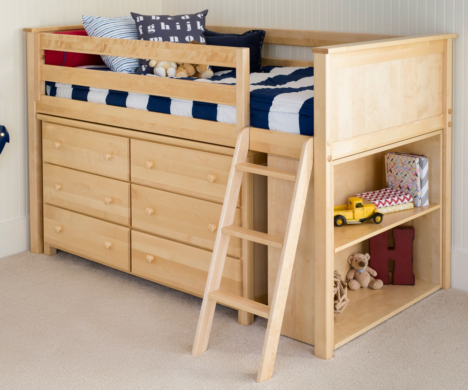 Picture of: Twin Loft Bed with Dresser