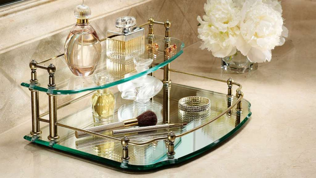 Picture of: Two Tier Vanity Trays