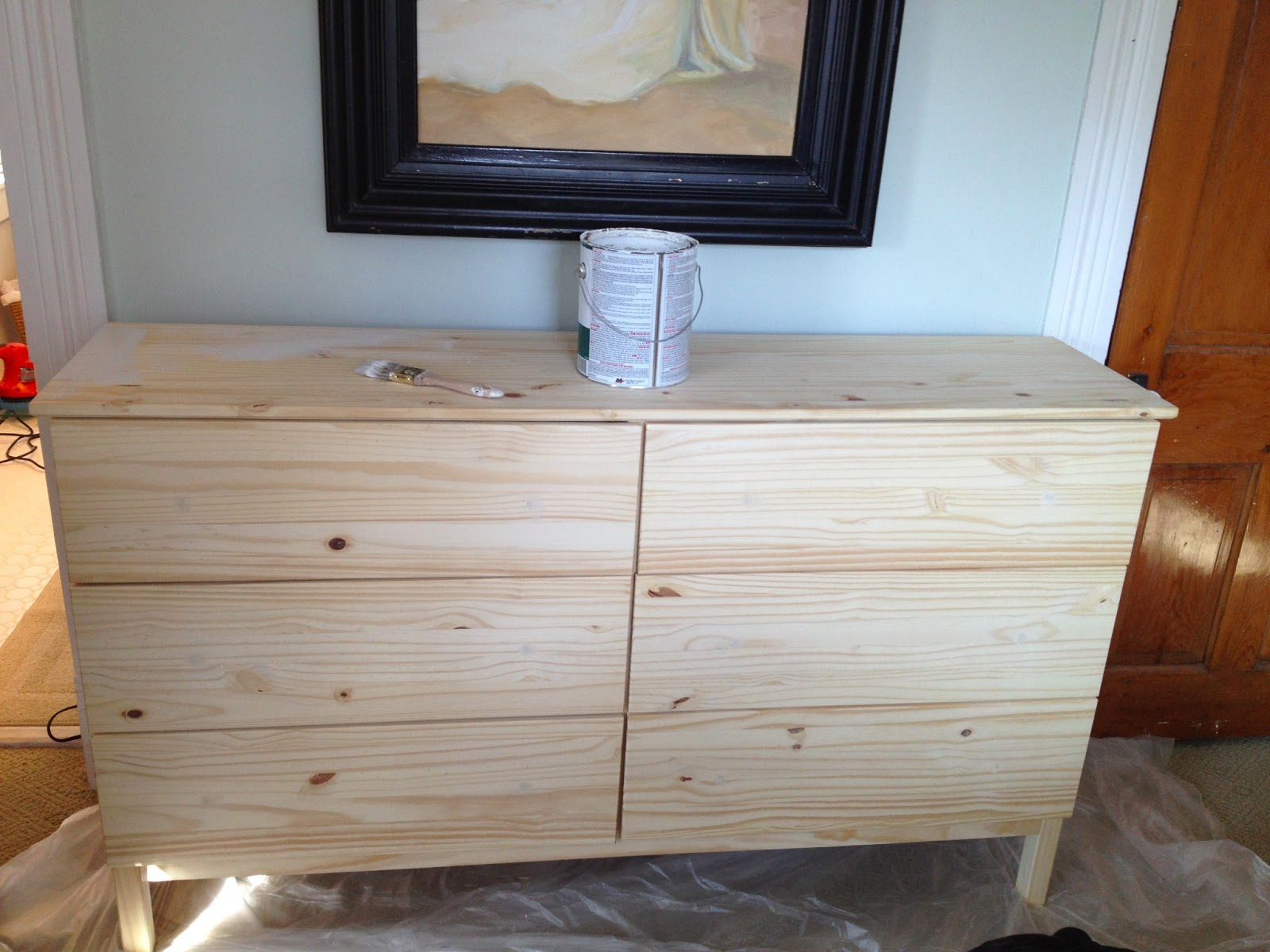 Image of: Unfinished 3 Drawer Dresser Hack