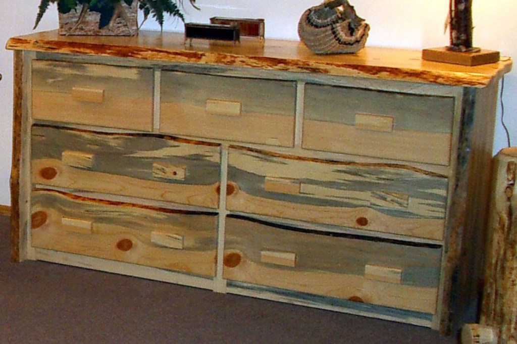 Unfinished 6 Drawer Dresser