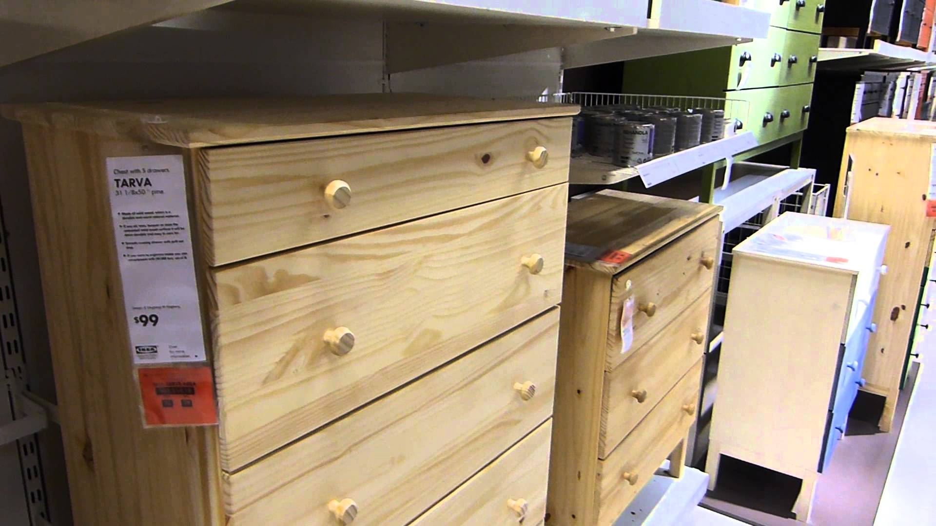 Image of: Unfinished Dresser Ikea Store