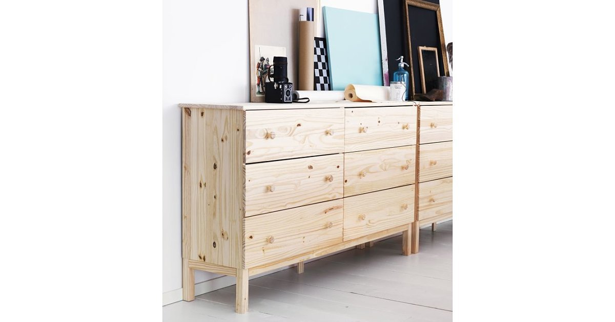 Image of: Unfinished Pine Tarva Dressers Hack