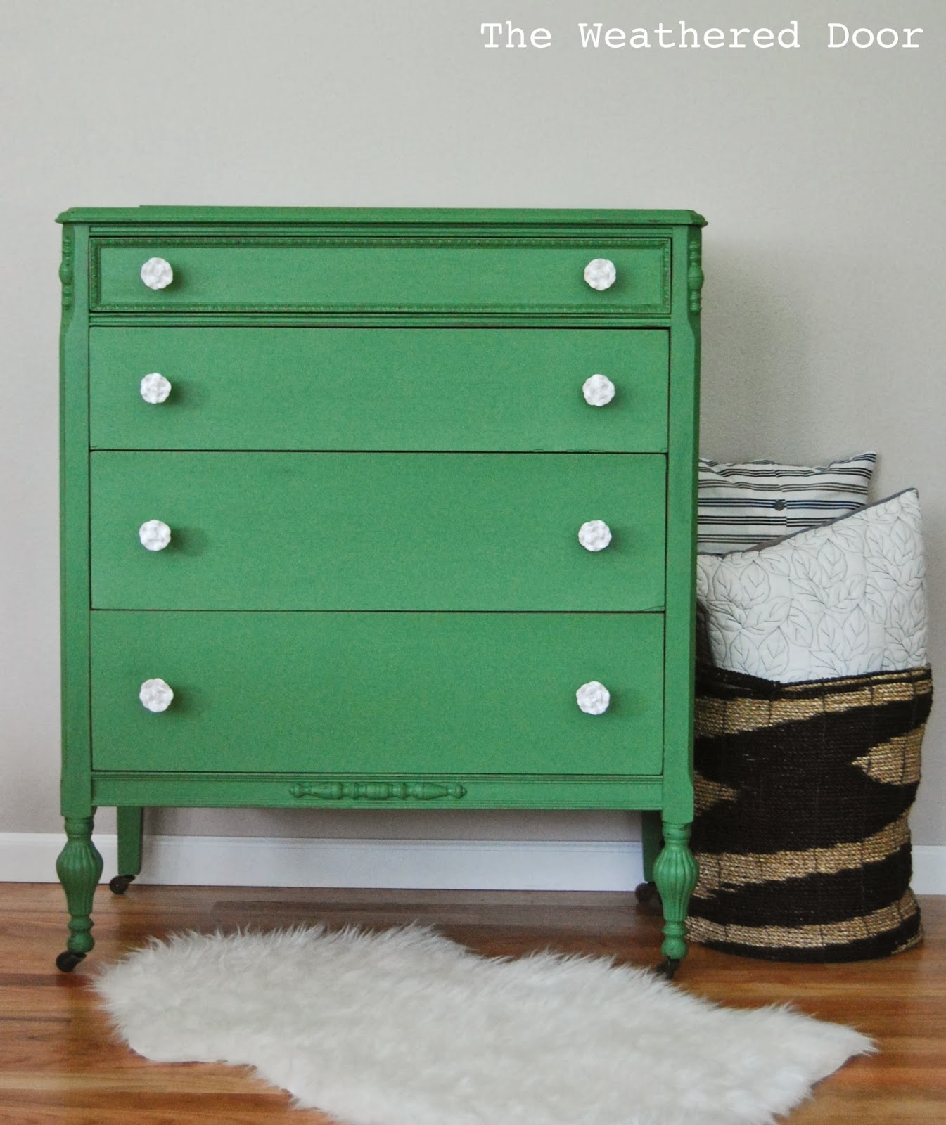Picture of: Unique Green Cabinet Pulls