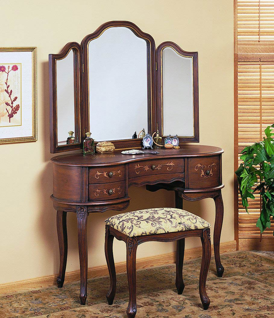 Picture of: Unique Vanity Dresser with Mirror