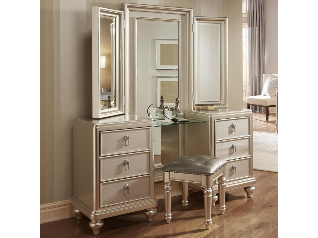 Picture of: Vanity Mirror With Stool