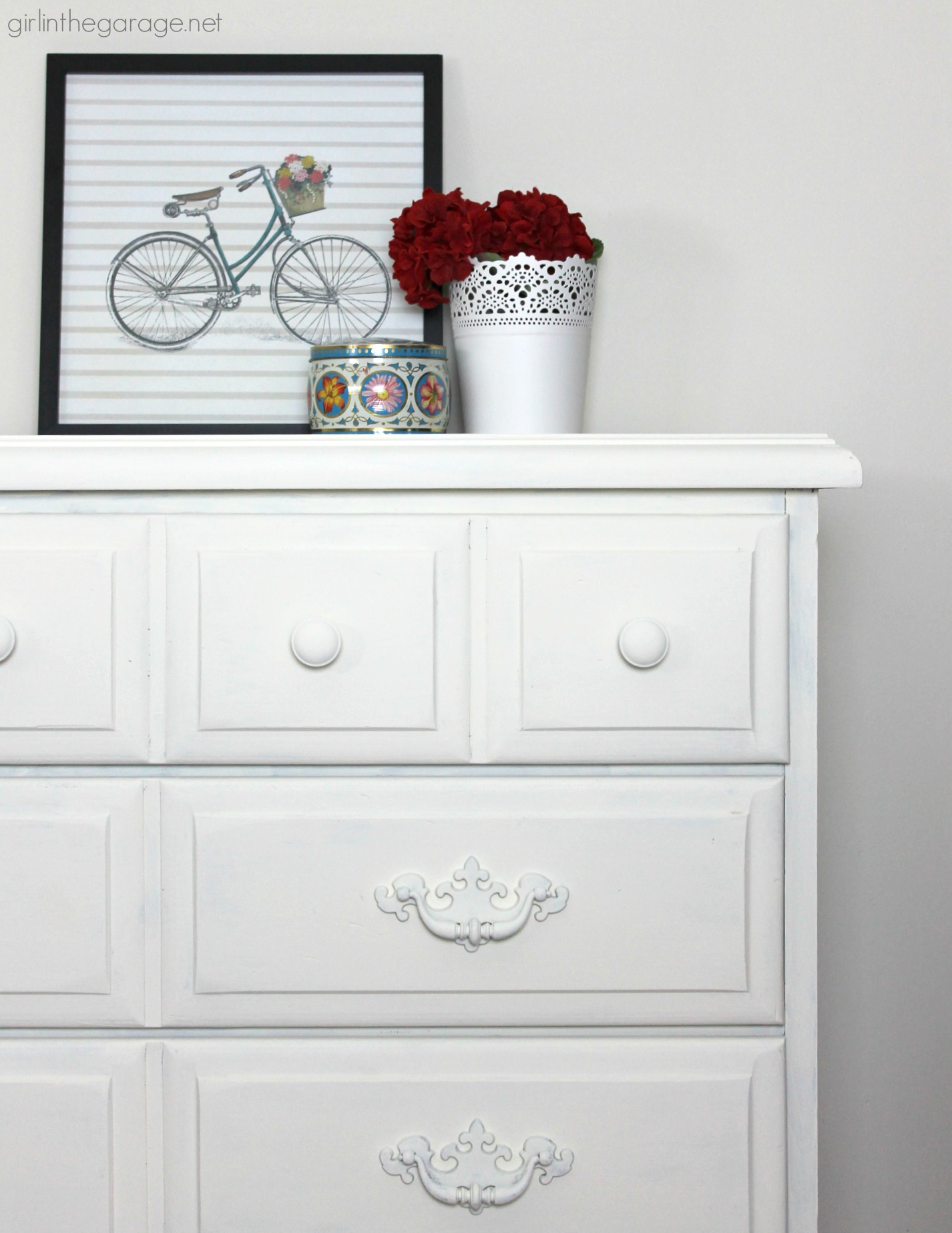 Picture of: Vintage Dresser With Decor